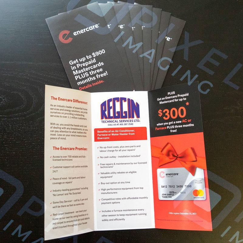 Custom-printed flyers in Calgary